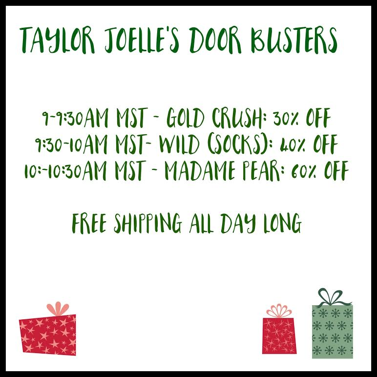 922b534702 We wanted to do you all a favor and let you SLEEP IN this year! Our sale and  Door Busters will start at 9am MST!