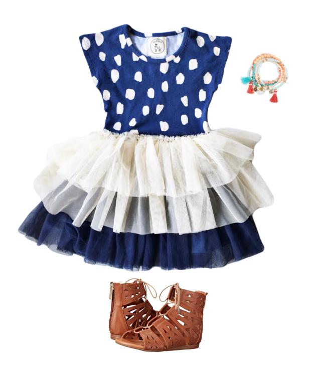 navy dress layout
